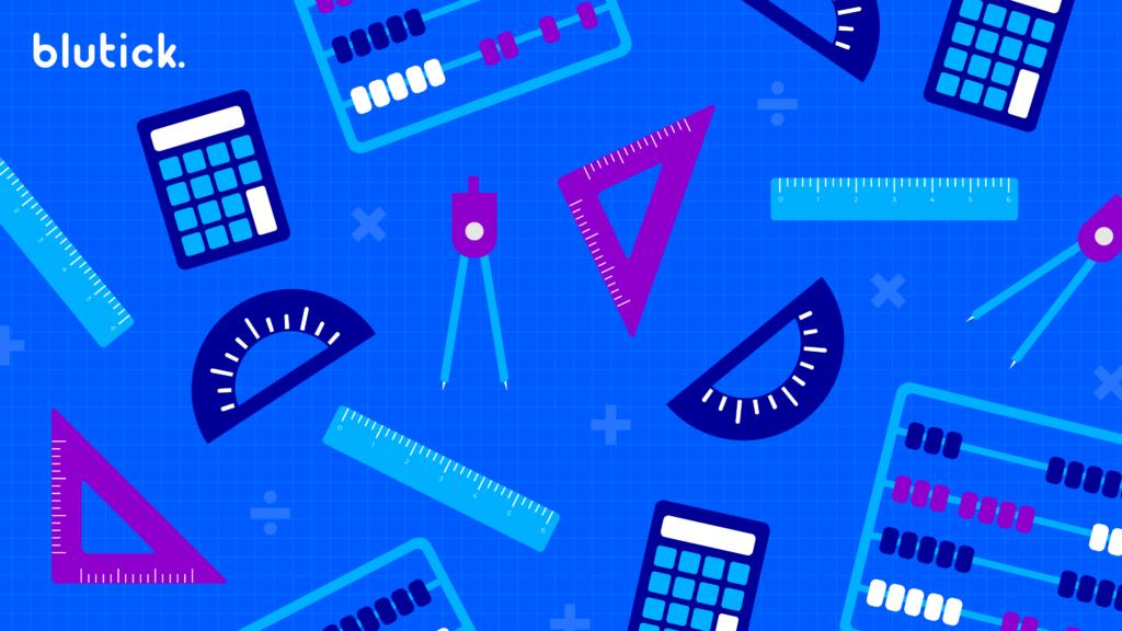 Zoom Maths Equipment Background - Blutick Maths Online