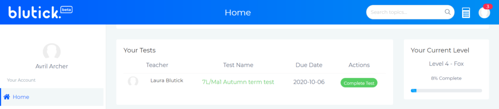 How To Set a Test for My Students Your Tests - Blutick Maths Online