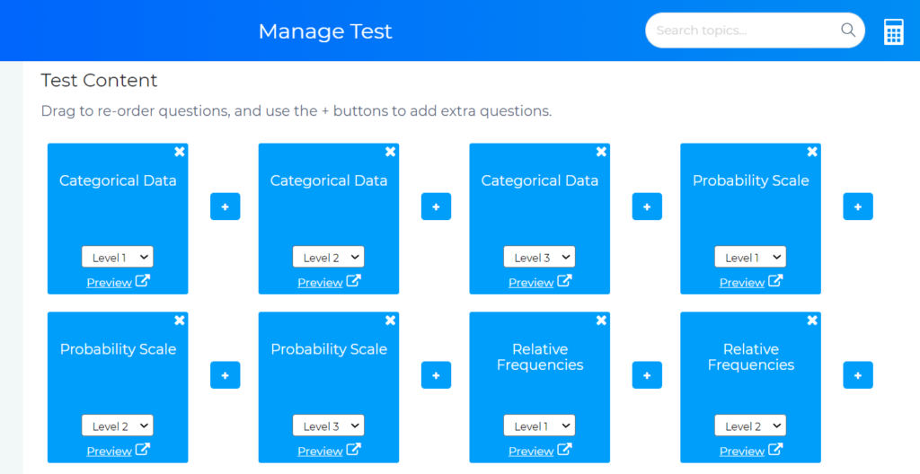 How To Set a Test for My Students Test Content Topics - Blutick Maths Online