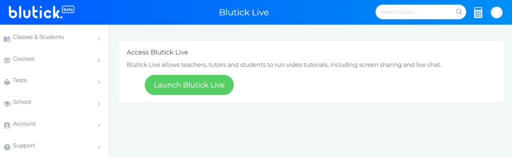 Online Video Chat with Class Live - Blutick Maths Online